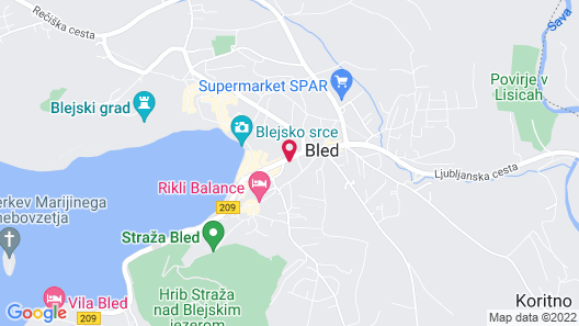 Vila Bojana Map