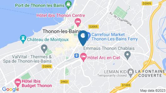 Appart'City Thonon les bains Map