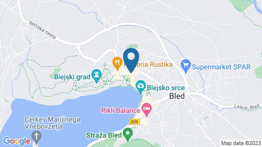 Bled Rose Hotel Map