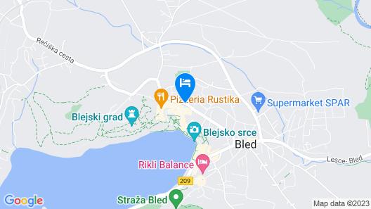 Hotel Astoria Bled Map