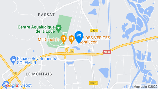 ibis budget Montluçon Map