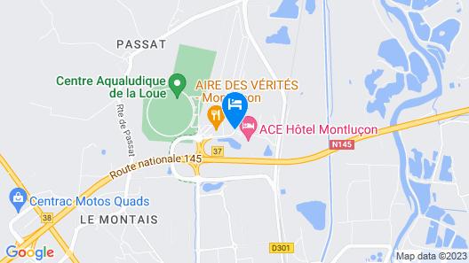 ACE Hôtel Montluçon Map
