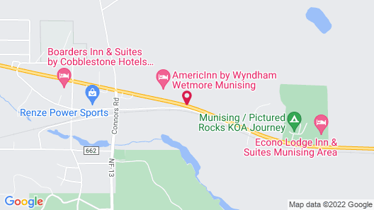 AmericInn by Wyndham Wetmore Munising Map