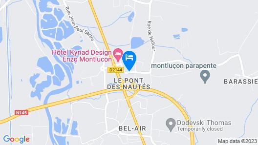 Hôtel Première Classe Montluçon - Saint Victor Map