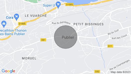 Le Parc Publier / Evian les Bains Map