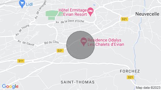 Appart Équipé et Cosy Accès Thermes D'evian + Sauna Map