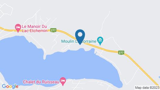 L'Etchemin sur le lac Map