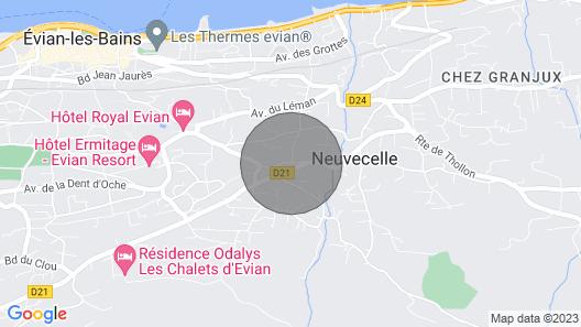 Very Pretty Villa Evian / Neuvecelle Map