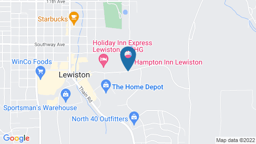 Hampton Inn Lewiston, ID Map