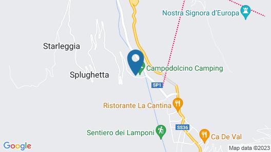 Campodolcino Camping Map