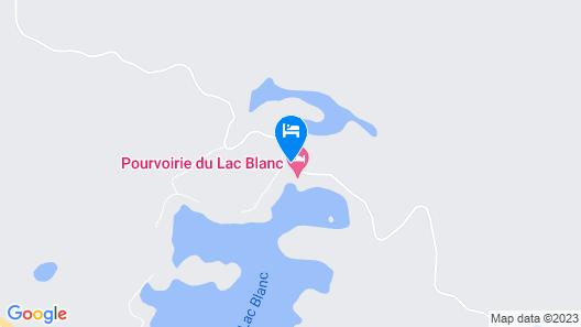 Pourvoirie du Lac Blanc Map
