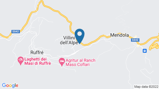 Hotel Roen Ruffrè-Mendola Map