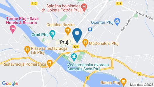 Hotel & Casino Poetovio Map