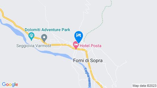 Albergo Centrale Forni Map