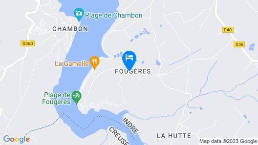 Gîtes LES Fougeres DU LAC Map