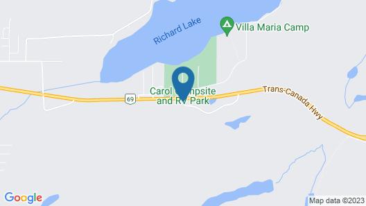 Richard Lake Motel Map