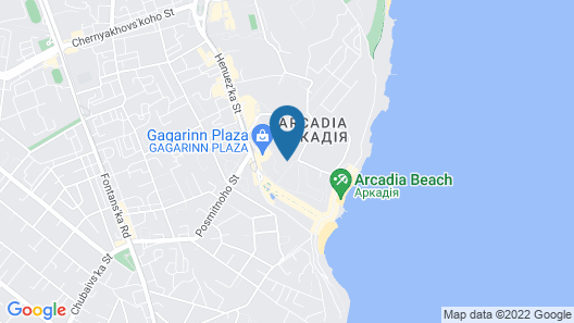 Design Apartments Leo - your vacation apartments in Arcadia, Odessa Map