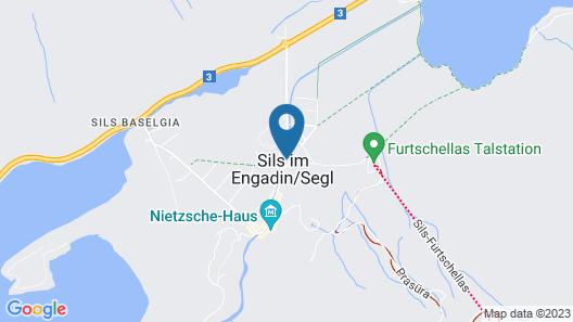 Hotel Cervo Sils Map