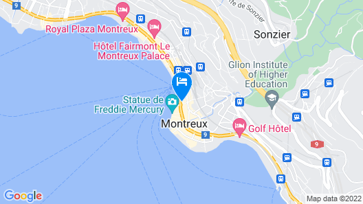 Montreux Grand Rue Apartments Map