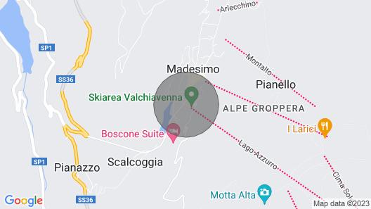 madesimo condominiio cristal - Apartment Map