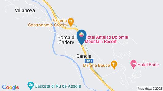 Antelao Dolomiti Mountain Resort Map