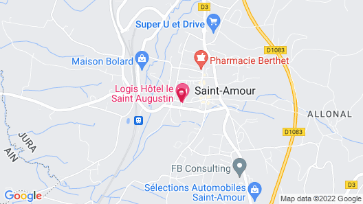 Hotel Saint Augustin Map