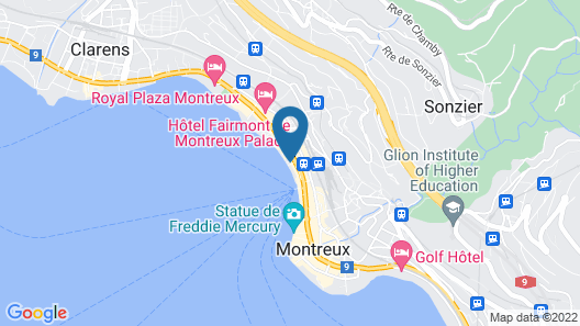 Montreux Apartment on the Lake Map