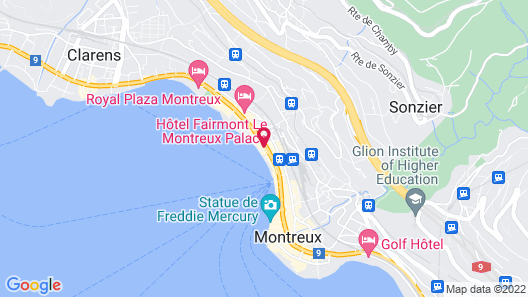 Eurotel Montreux Map