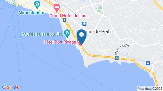 Hôtel Bon Rivage Map