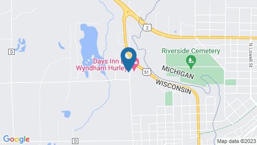 Days Inn by Wyndham Hurley Map