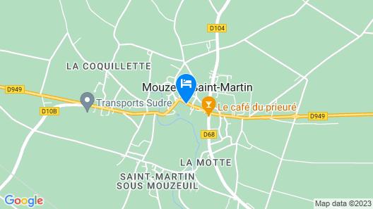 La Poussardiere gite Map