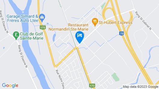Hôtel Motel La Différence Map
