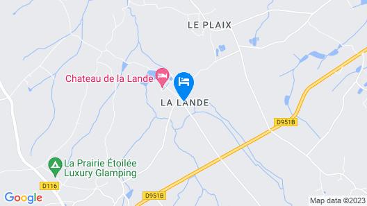 Chateau de la Lande Map