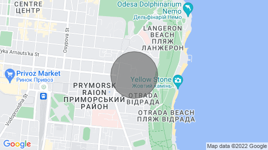 Apartment in Odessa Near the sea and the Center Map