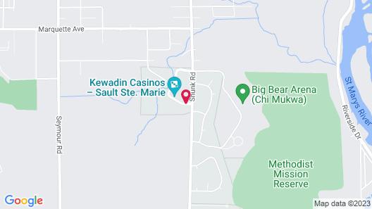 Kewadin Sault Ste Marie Hotel Map