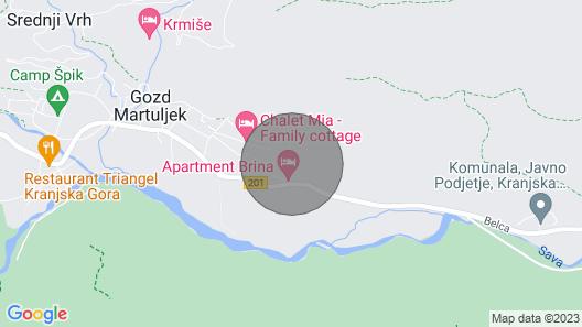 Primula Cottage, Gozd Martuljek - Kranjska Gora Map