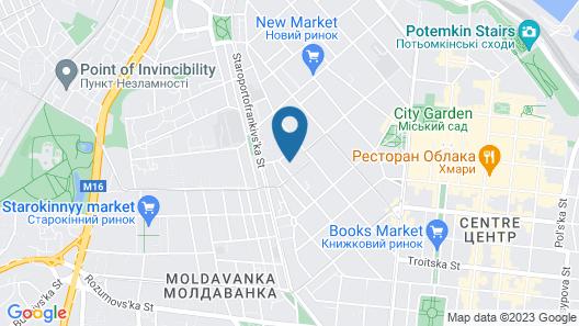 Centro Hostel Map