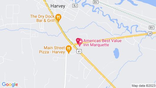 Americas Best Value Inn Marquette Map