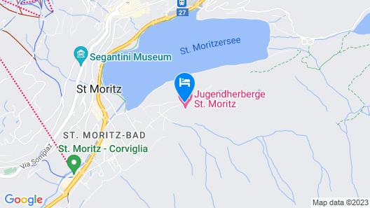 Youth Hostel St. Moritz Map