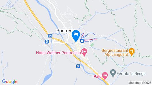 Schweizerhof Pontresina Map
