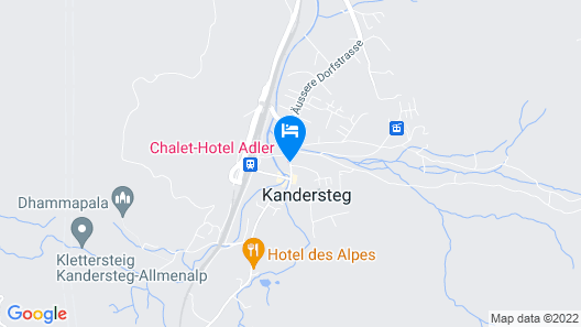 Chalet-Hotel Adler Map