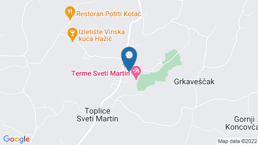Hotel Terme Sveti Martin Map