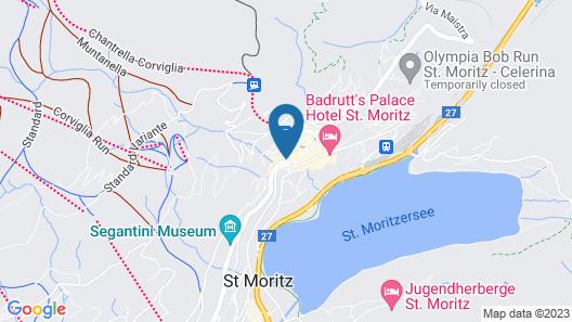 Hauser Hotel St. Moritz Map
