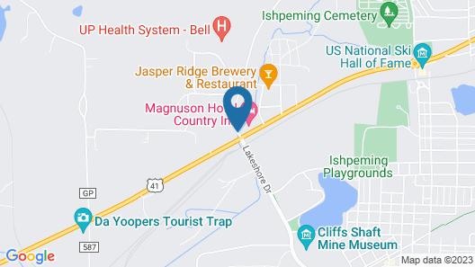 Magnuson Country Inn Ishpeming Map