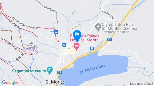 Kulm Hotel St. Moritz Map