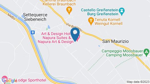 Art & Design Hotel Napura Map