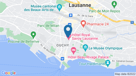 Royal Savoy Lausanne Map