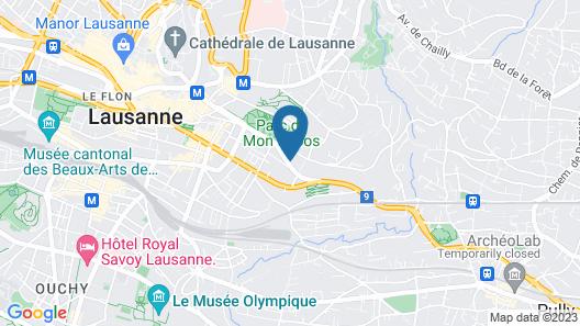 Aparthotel Léman 11 Map