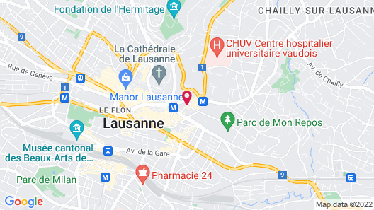 Hotel Lausanne by Fassbind **sup Map