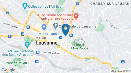 Hotel Lausanne by Fassbind Map